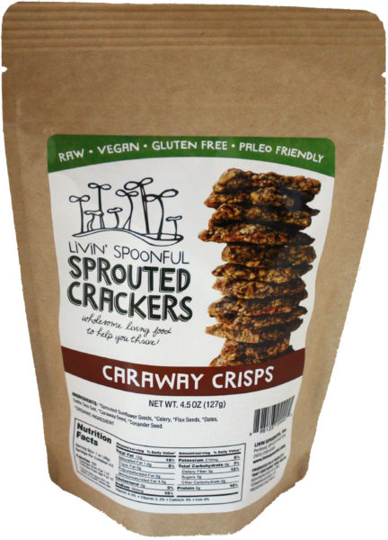 Livin' Spoonful Sprouted Caraway Crackers