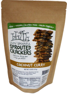 Livin Spoonful Sprouted Coconut Curry Crackers