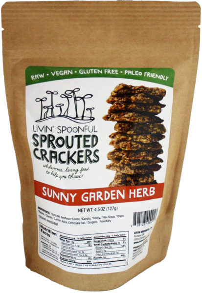 Livin Spoonful Sunny Garden Herb Sprouted Cracker