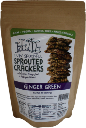 Livin' Spoonful Ginger Green Sprouted Crackers