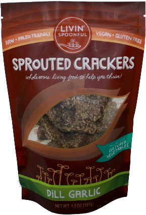 Cultured Vegetable Sprouted Crackers
